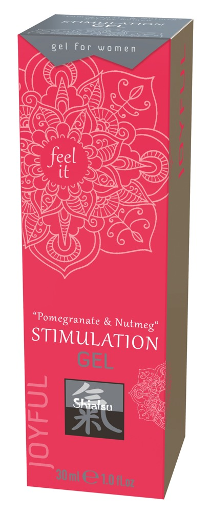 Shiatsu CLITORIS STIMULATION GEL POMEGRANATE-NUTMEG 30 ml