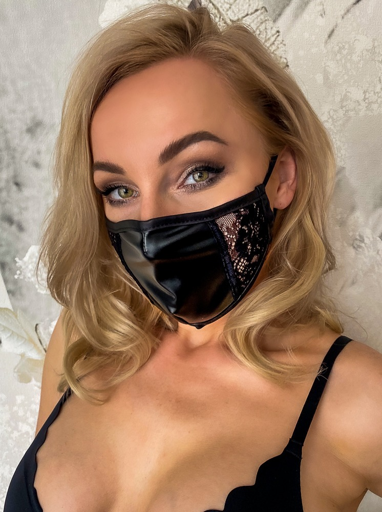 Noir Handmade FACE MASK WITH LACE BLACK