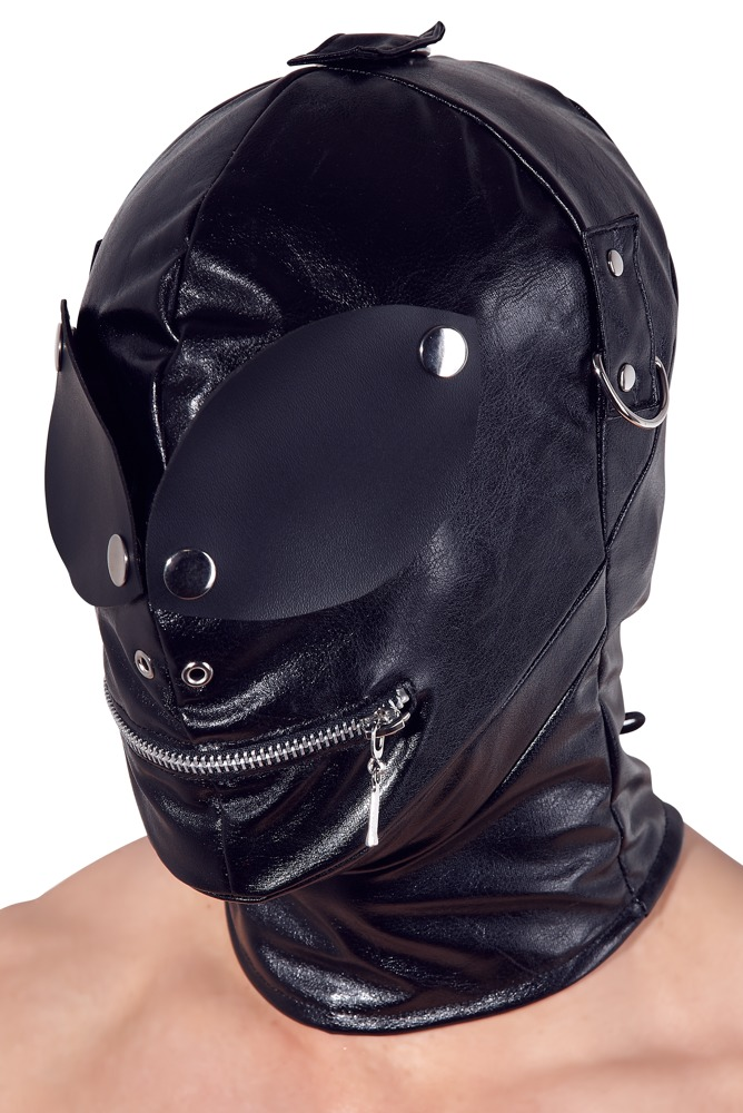 Fetish Collection MASK WITH EYE PATCHES AND MOUTH ZIPPER BLACK