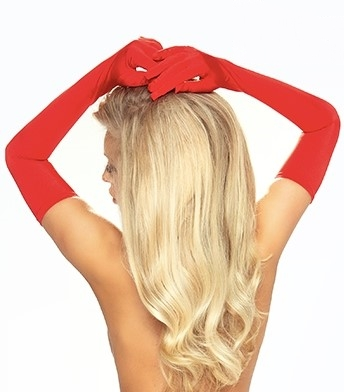 Provocative LONG GLOVES RED